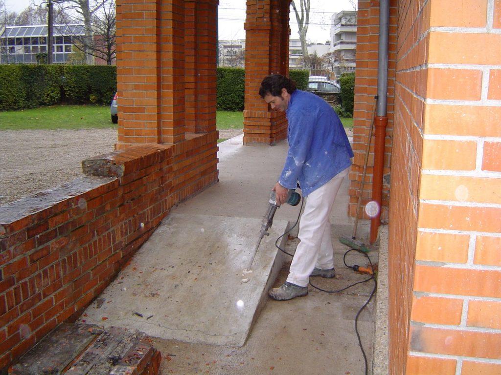 Construction d'une rampe d'accessibilité
