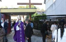 Mgr Nahmias et Alice Fabre, directrice des Chantiers du Cardinal