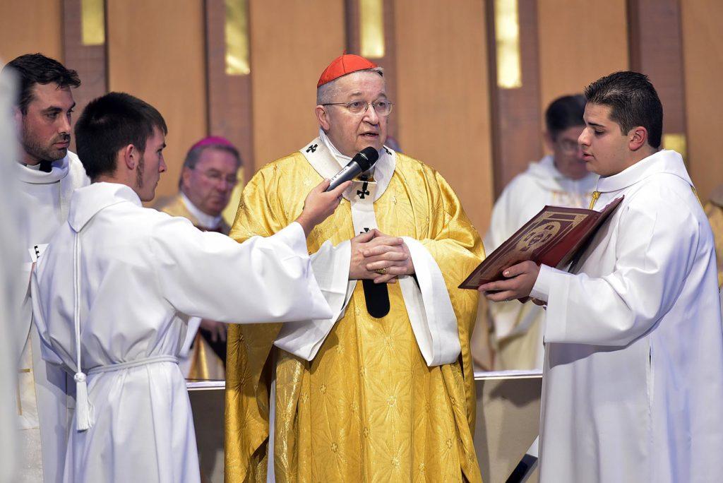 Le cardinal Vingt-Trois lors de la dédicace de la cathédrale de Créteil