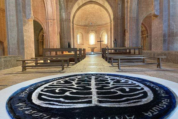 Memoria Mundi, installé dans la nef de l'abbaye