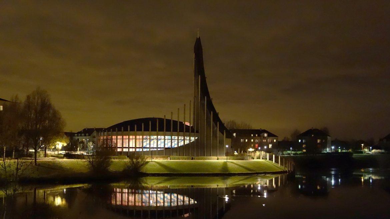 Notre-Dame-du-Val de nuit, en 2013