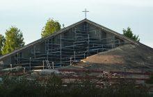 découpage toit de l'église du Saint-Esprit à Meudon-la-Forêt