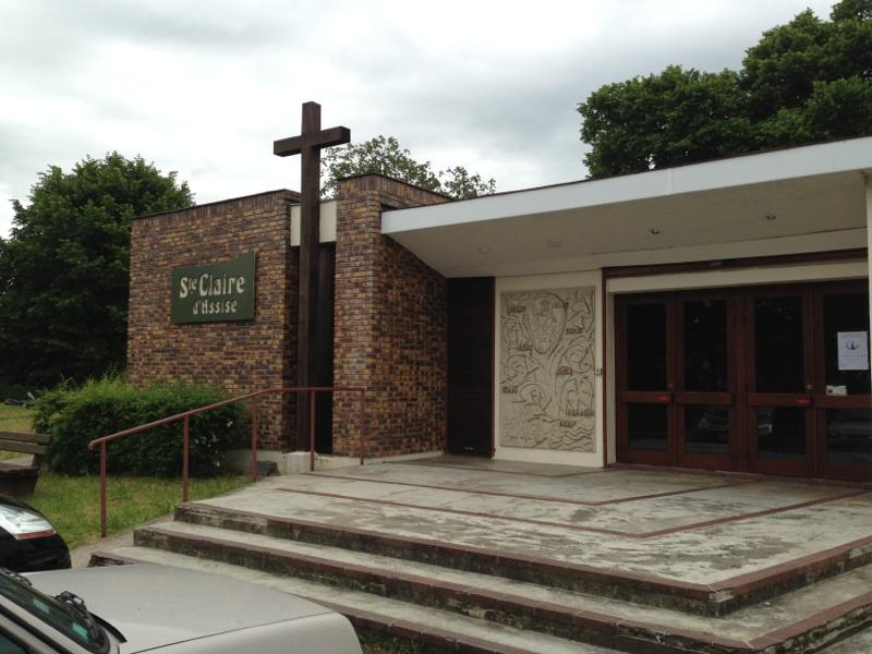 Vue de l'église Sainte-Claire