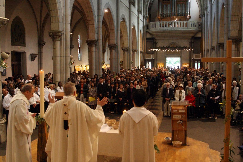 Messe célébrée à l'occasion du centenaire de l'église, en 2010