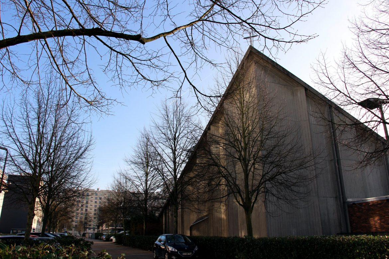 Vue générale Eglise Meudon la Forêt avant travaux