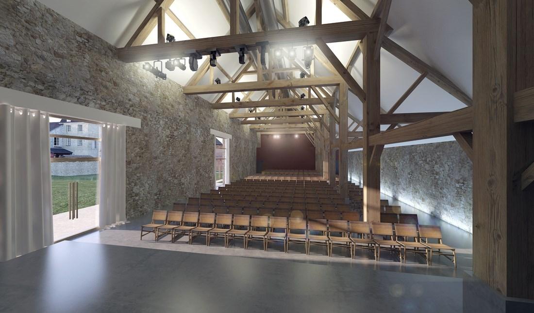 La grange réaménagée Notre-Dame-de-L'Ouÿe