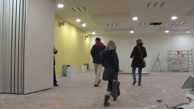 Les locaux paroissiaux de Saint-Gilles vus de l'intérieur, pendant les travaux