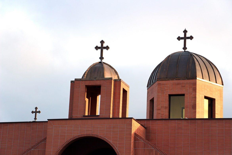 Vue du toit de l'église Saint-Jean-Apôtre des chaldéens