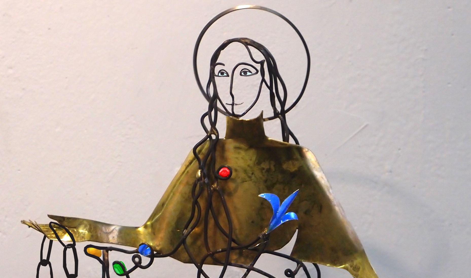 Statue sainte Bathilde