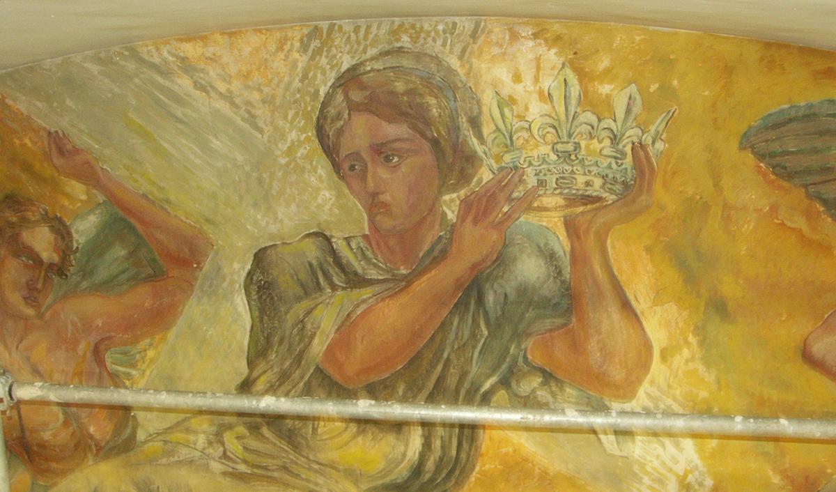 Fresques de l'église Sainte-Hélène à Paris 18e.