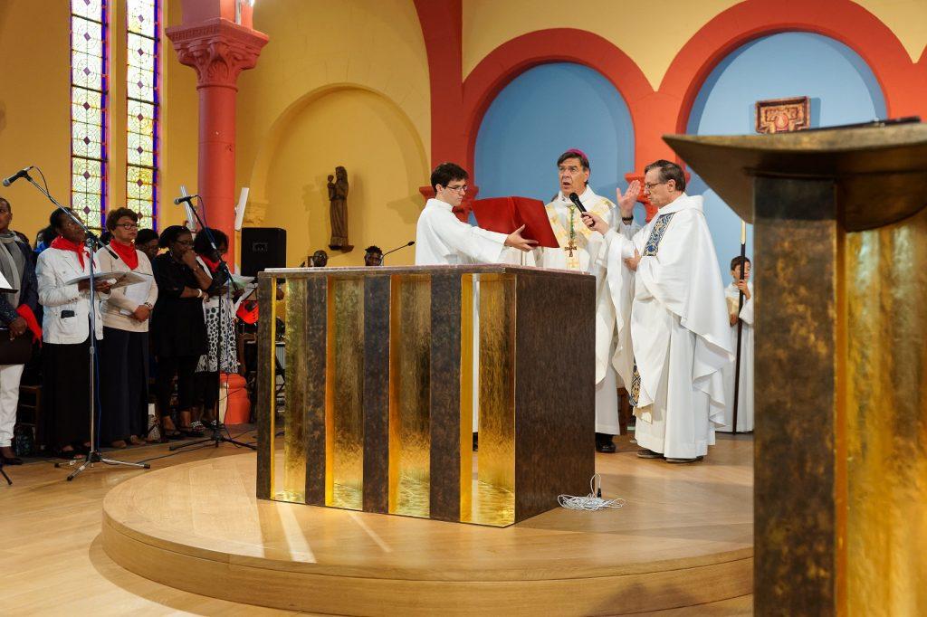 Aupetit inauguration autel Asnières