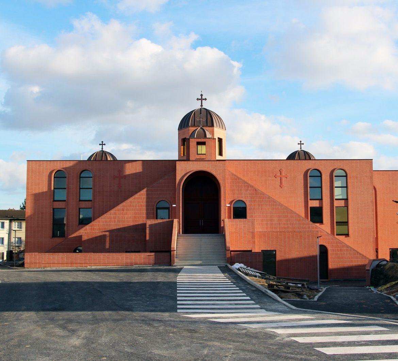 Façade de l'église Saint-Jean-Apôtre des chaldéens