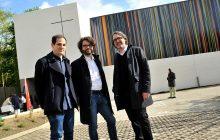 Trois architectes de l'agence Enia. De gauche à droite : Daniel Sellam-Kazoula, Julien Berujeau et Brice Piechaczyk, concepteur et maître-d'oeuvre du projet.
