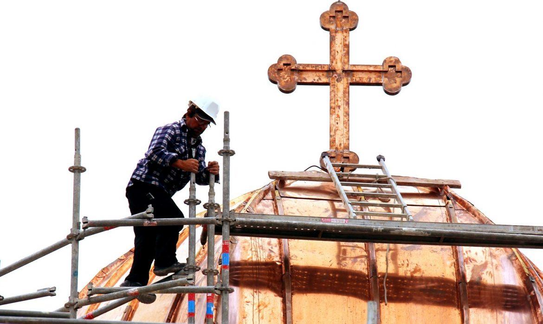Durant les travaux du toit