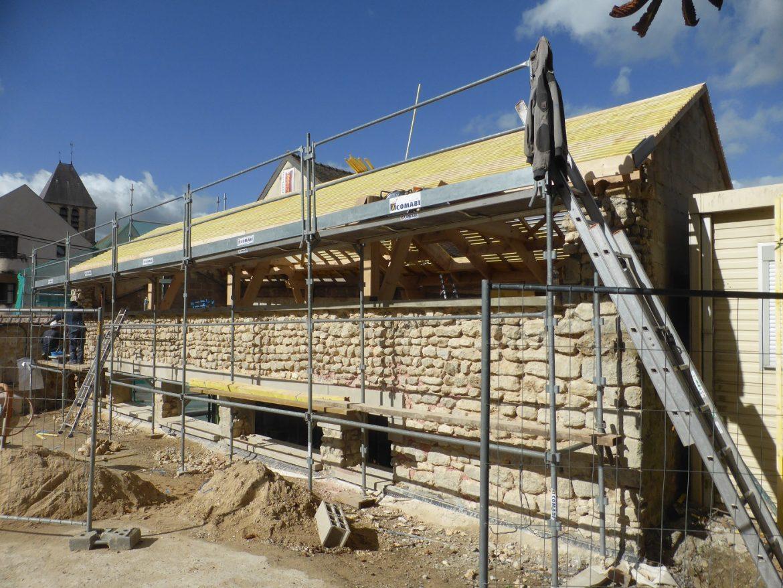 La maison paroissiale en chantier
