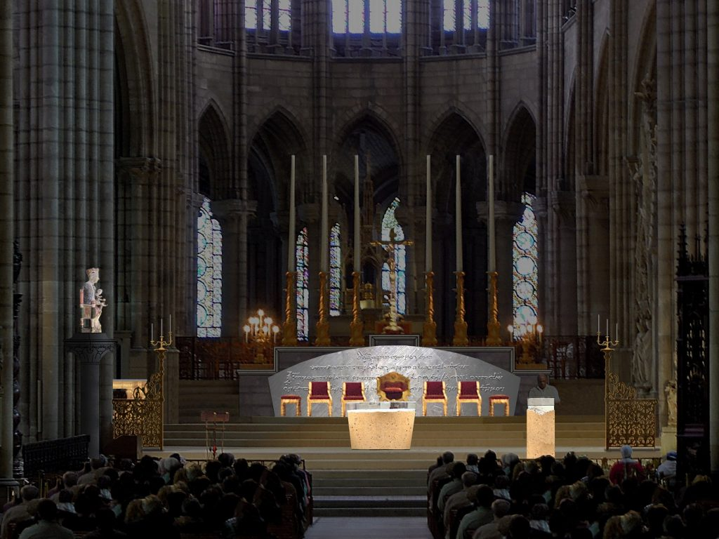aménagement de la basilique Saint-Denis