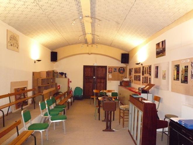 Vue de la salle de musique actuelle