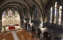 Saint-Louis-du-Progrès a été construite dans le style néo-roman.