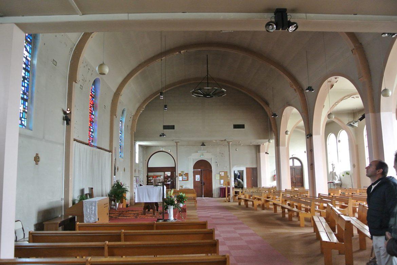 Intérieur de l'église du Blanc-Mesnil avant travaux.