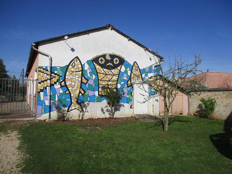 Fresque sur la façade