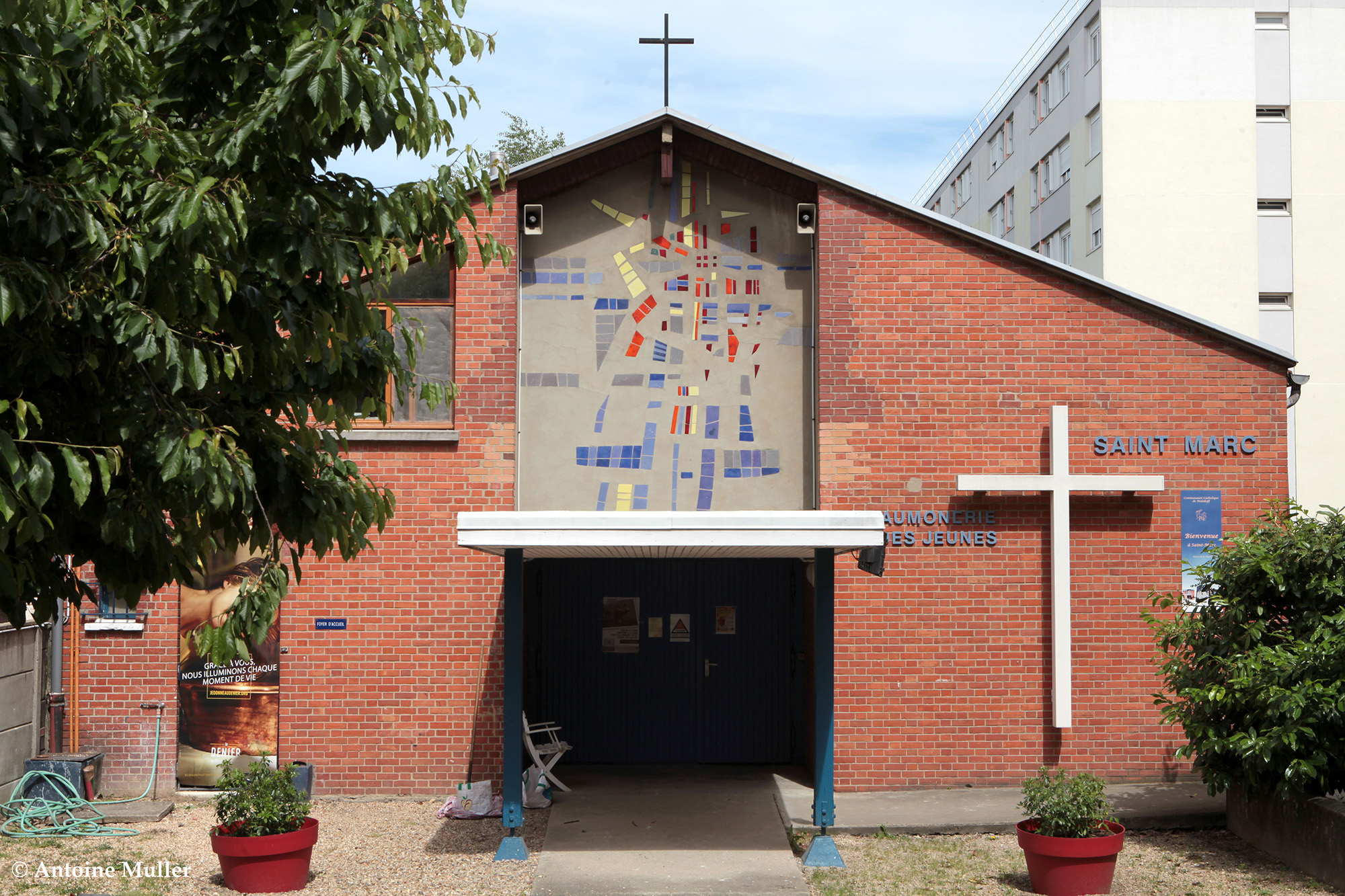 Façade avant de la Chapelle Saint-Marc