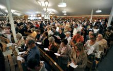 Une église remplie qui a accueilli plus de 700 personnes.