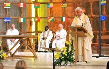 Le père Pierre Benoît à célébré la messe du 17 juin 2018.