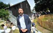 L'architecte Bastien Lechevalier le jour de l'inauguration.
