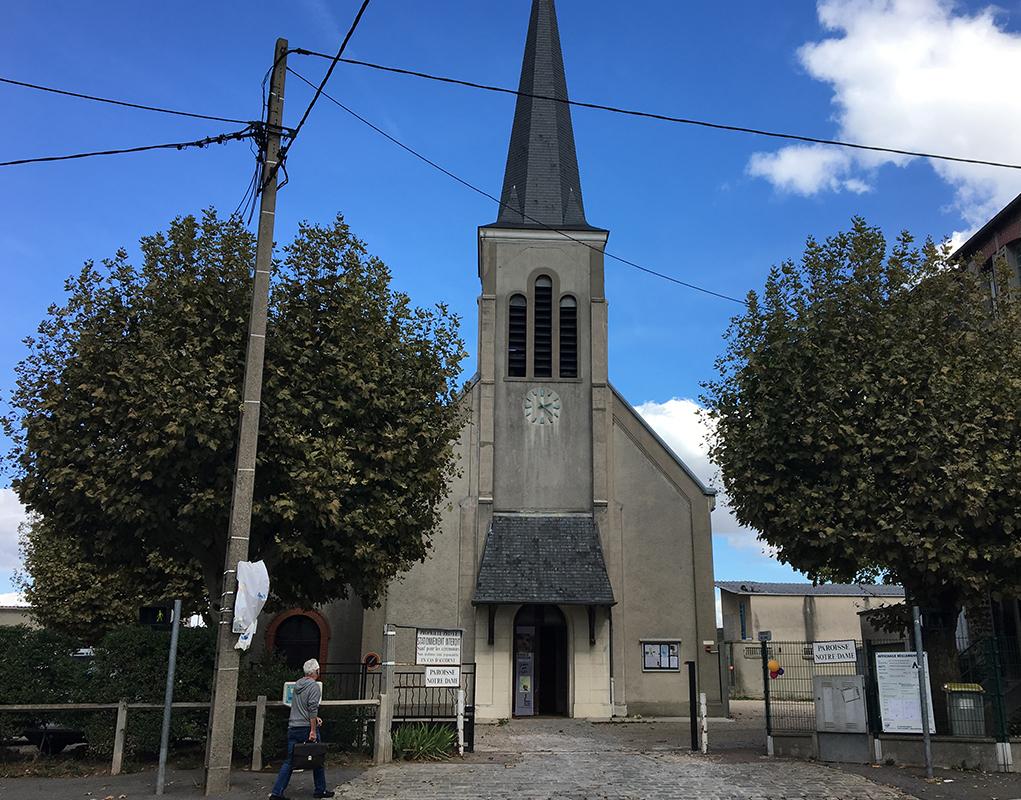 Début des travaux intégralement financés par les Bâtisseurs d'églises