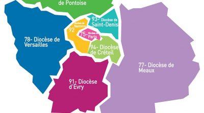 8 diocèses d'Île-de-France