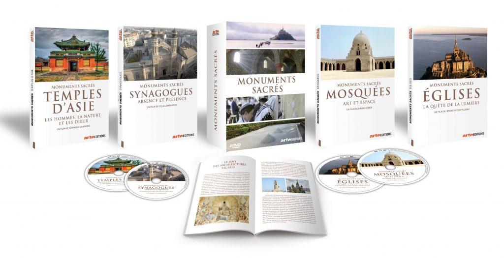 """Visuel du coffret de 4 DVD """"Monuments sacrés"""""""