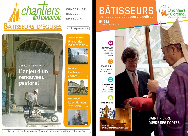 Les deux dernières formules de la revue en 2001 et 2016 où elle prend le nom de Bâtisseurs.
