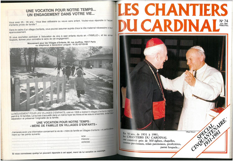 La première couverture en quadrichromie saluant la venue du pape Jean-Paul II en France et sa rencontre avec le cardinal Marty.