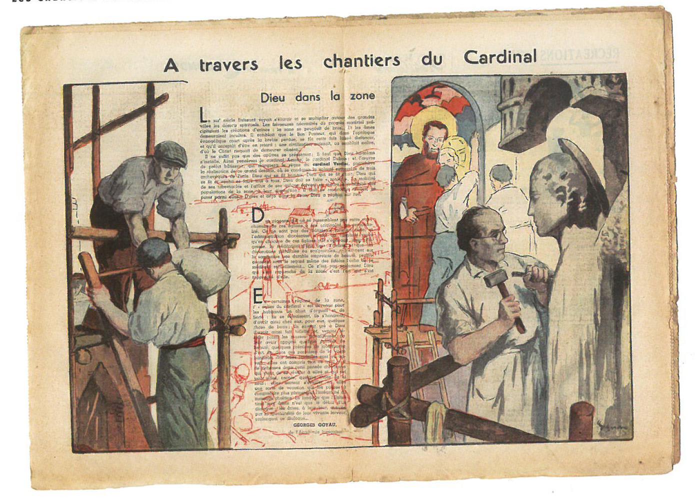 Le magazine Le Pèlerin de la Bonne Presse a consacré de nombreux articles aux églises des Chantiers du Cardinal.