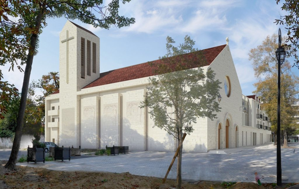Perspective de la future église Sainte-Bathilde.