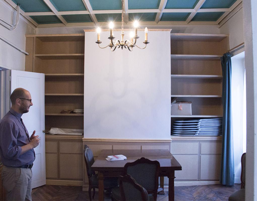 La petite salle à manger des prêtres au premier étage.