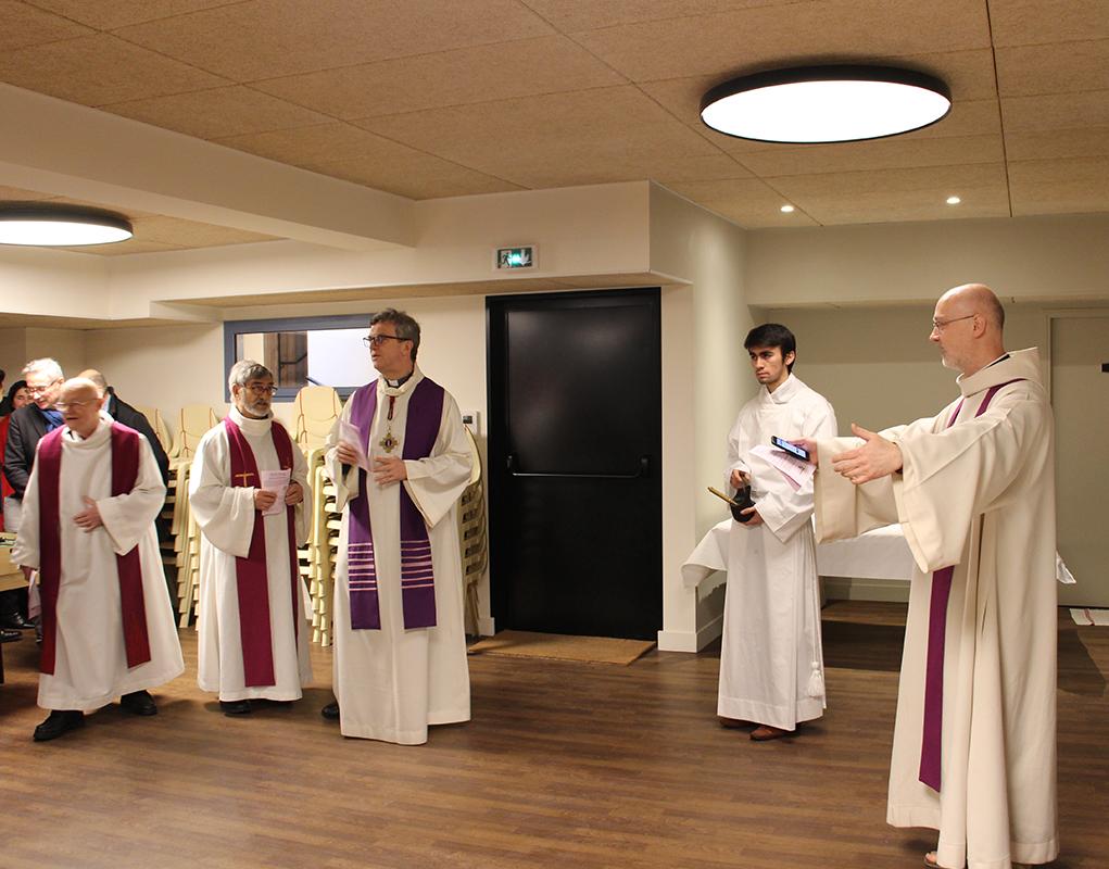 Bénédiction de la salle Ste-Geneviève à St-Martin-des-Champs (Paris)