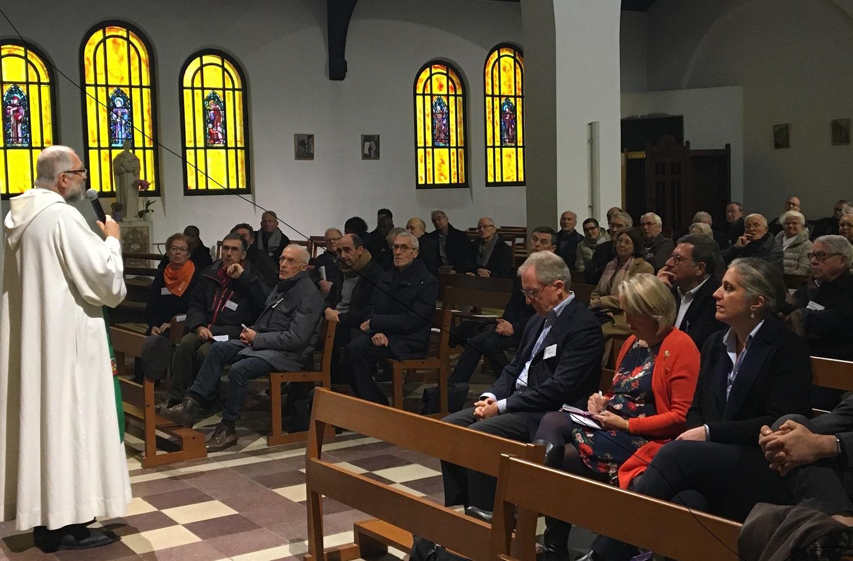 Le père Hervé Guillez, curé de la paroisse Saint-François-d'Assise a rappelé l'importance des travaux réalisés pour le dynamisme de la communauté paroissiale.