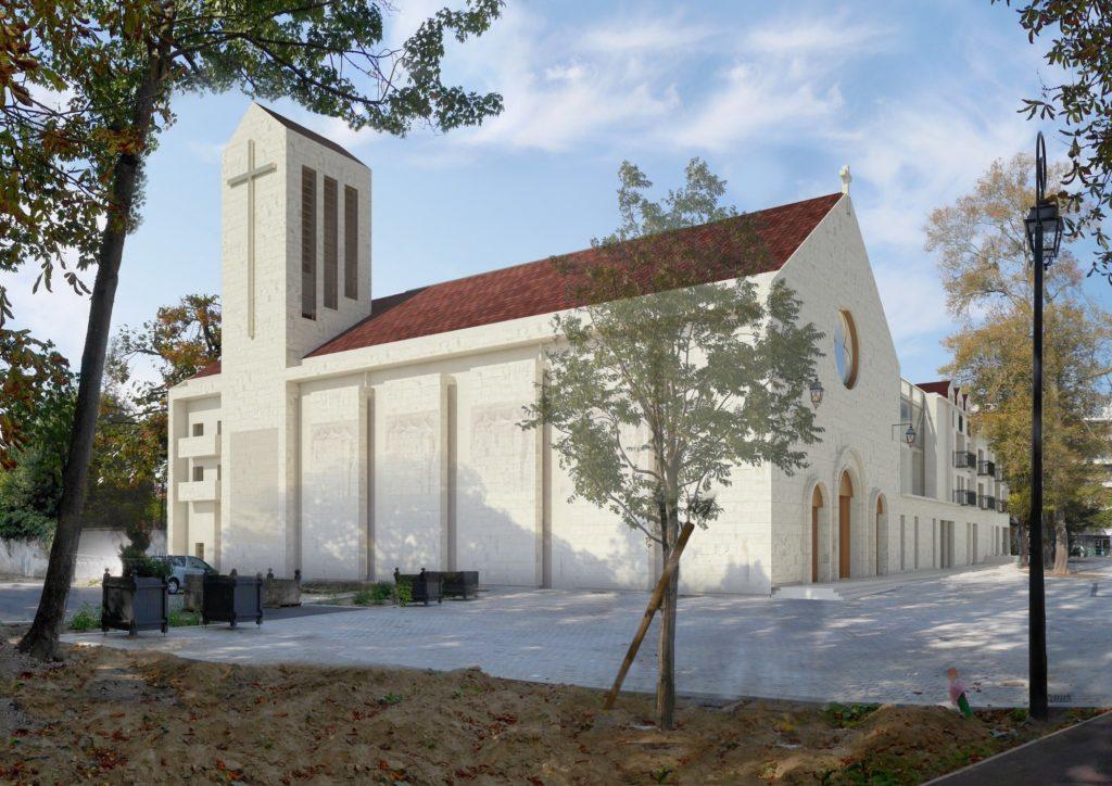 Projet de la nouvelle église Sainte-Bathilde par le cabinet d'architecture Patriarche.