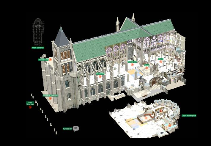 Une visite à 360° de la cathédrale basilique de Saint-Denis