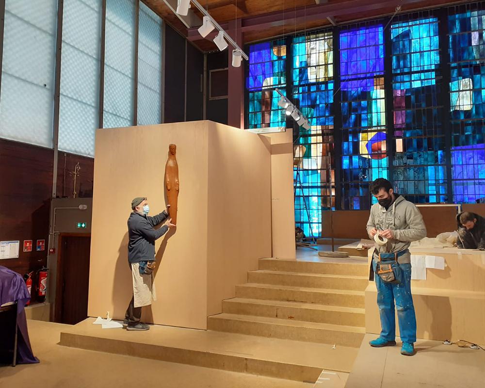 Aménagement du chœur de l'église Saint-Paul pour le rendre plus lisible