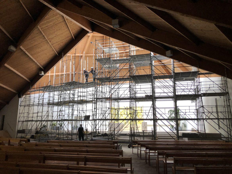 Eaubonne : des échafaudages pour réparer le toit de l'église