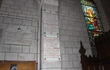 Plaque dans l'église d'alfortville