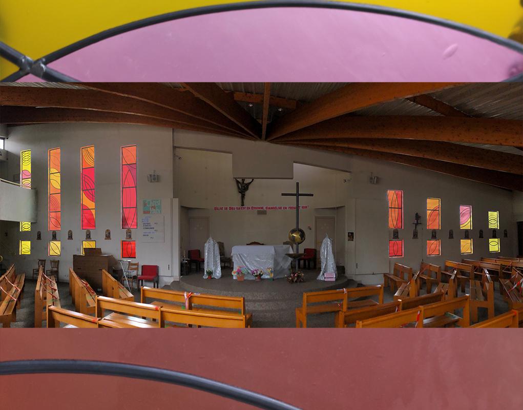 Proposition imaginée par Pierre Mabille pour l'église des Tarterêts (Crédit paroisse)